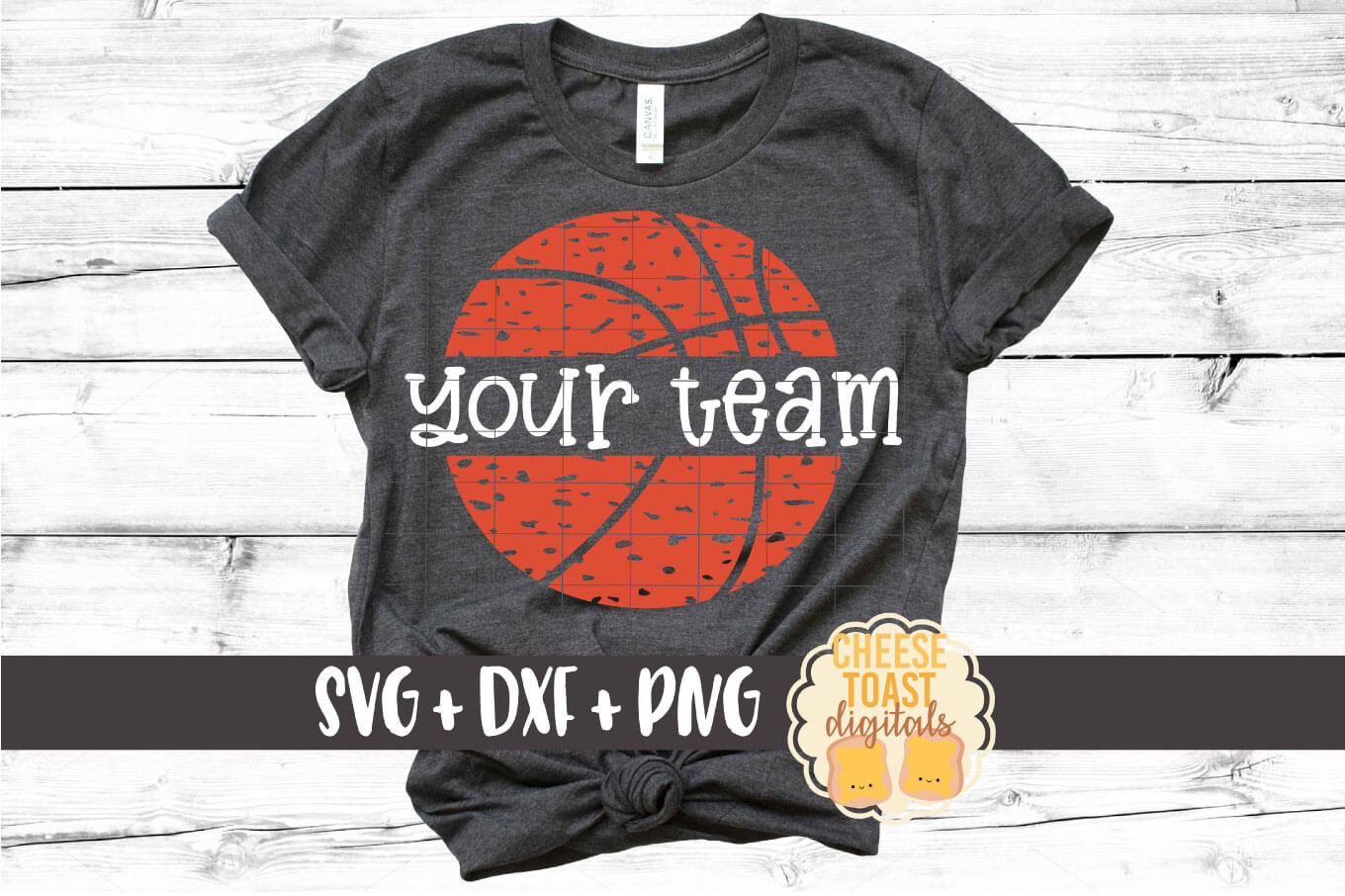 Split Basketball - Distressed