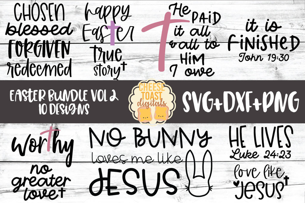 Religious Easter Svg Bundle Free And Premium Svg Files Cheese Toast Digitals