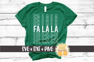 Fa La La - Christmas Mirror Word