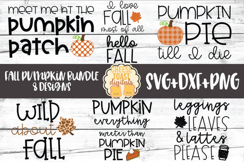 Fall Pumpkin Bundle - 8 Designs
