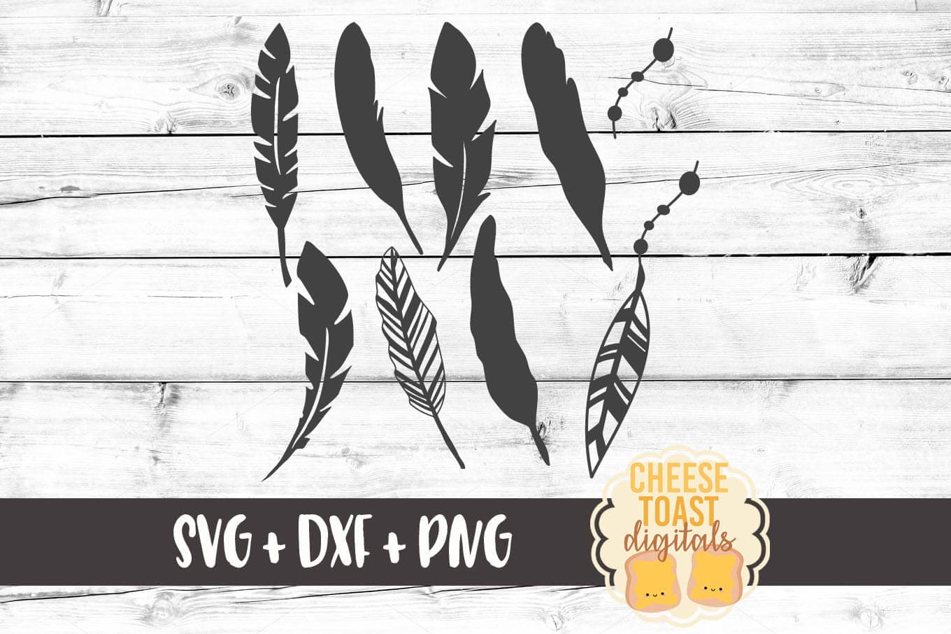 Feathers - SVG, PNG, DXF