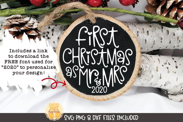 First Christmas As Mr and Mrs | Christmas Ornament