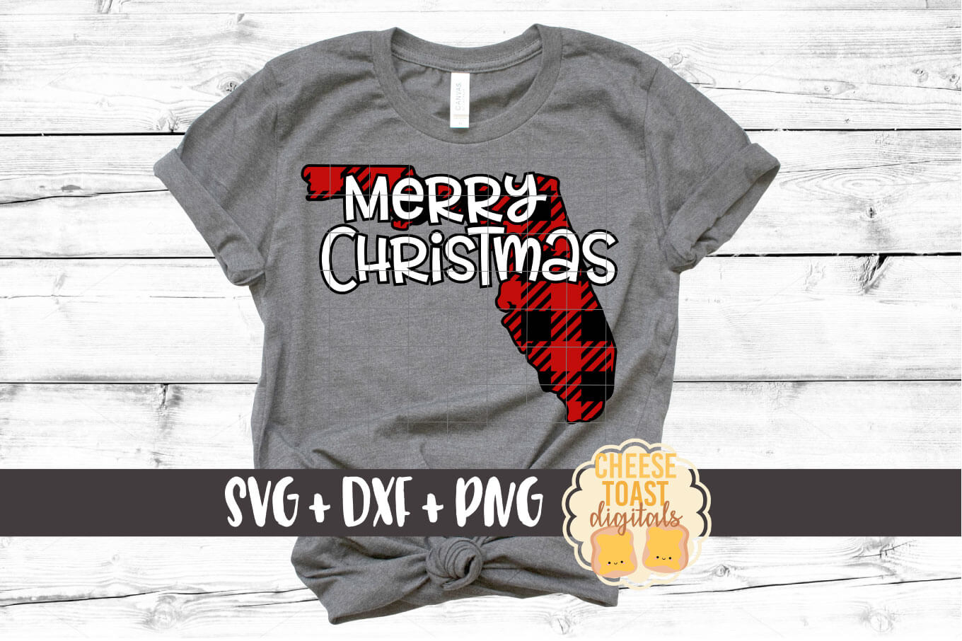 Florida - Buffalo Plaid Merry Christmas