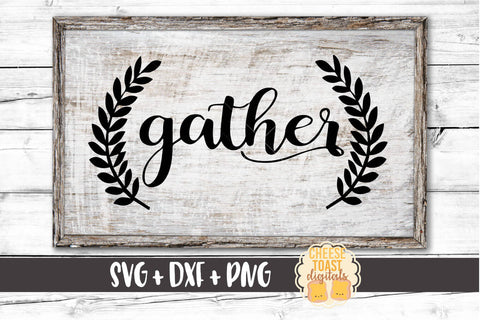 Gather with Laurels - SVG, PNG, DXF