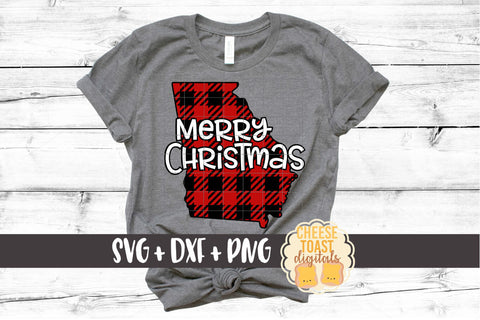 Georgia - Buffalo Plaid Merry Christmas