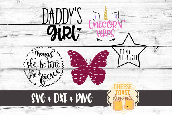 Girl Bundle - 5 Designs - SVG, PNG, DXF