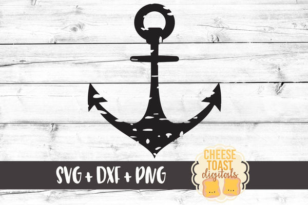 Grunge Anchor - SVG, PNG, DXF