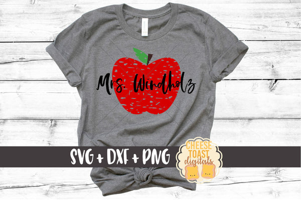 Grunge Apple - SVG, PNG, DXF