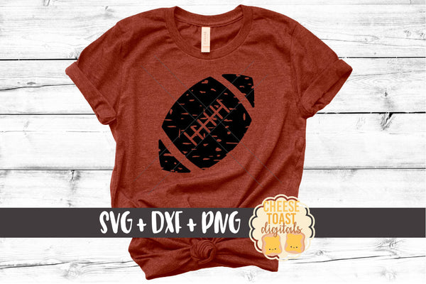 Grunge Football - SVG, PNG, DXF