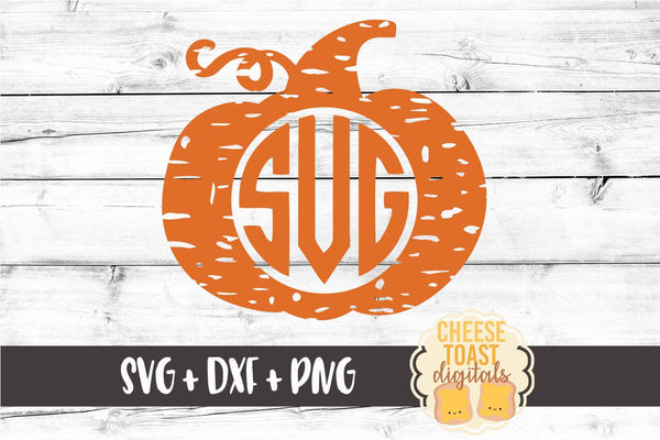 Monogram Pumpkin - Distressed