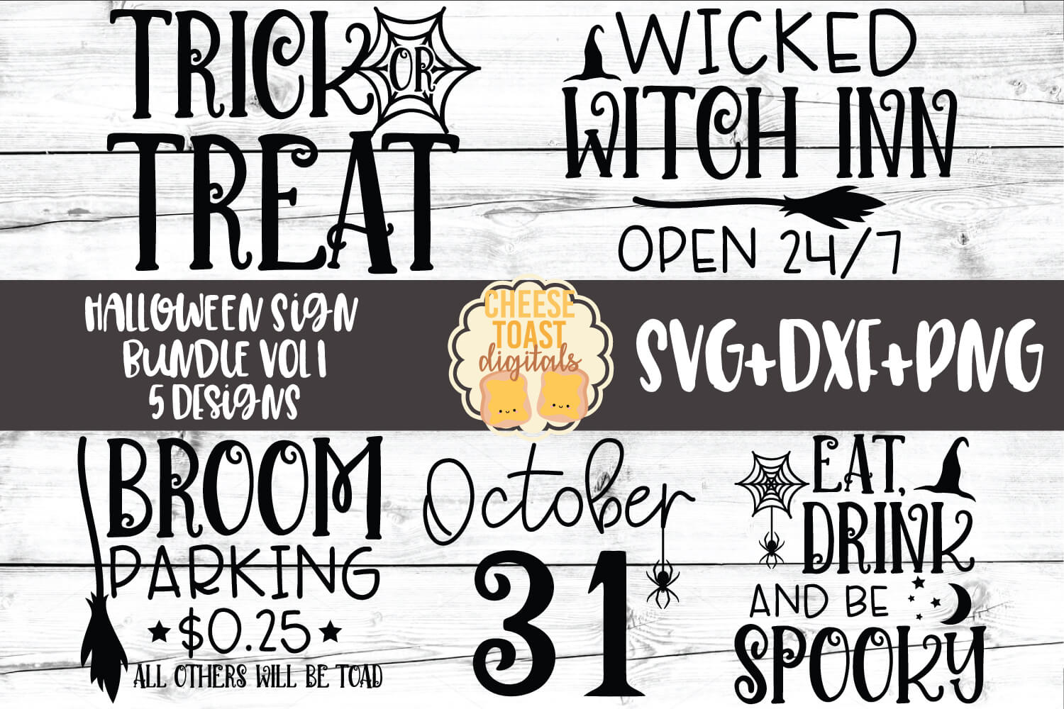 Halloween Sign Bundle Vol 1 - 5 Designs