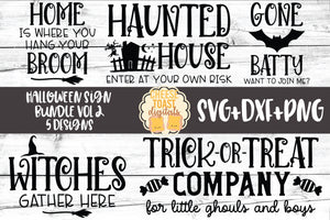 Halloween Sign Bundle Vol 2 - 5 Designs
