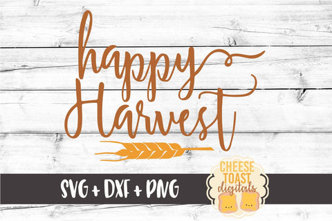 Happy Harvest - SVG, PNG, DXF