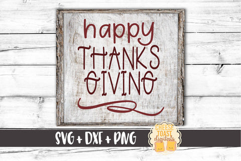 Happy Thanksgiving - SVG, PNG, DXF
