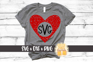 Heart Monogram - Distressed