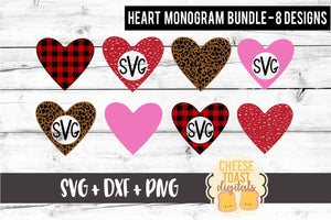 Heart Monogram Bundle