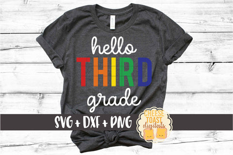 Hello Third Grade - Rainbow