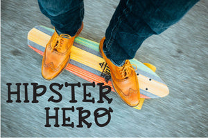 Hipster Hero: A Trendy Font - SVG, PNG, DXF