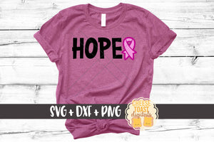 Hope with Ribbon - Breast Cancer Awareness