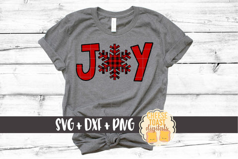Joy - Buffalo Plaid Snowflake