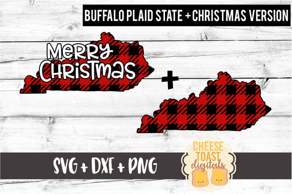 Kentucky - Buffalo Plaid Merry Christmas