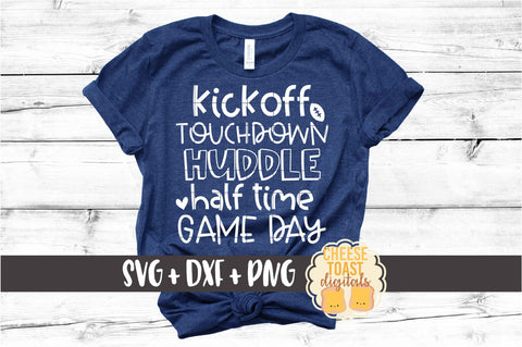Kickoff Touchdown Huddle Half Time Game Day