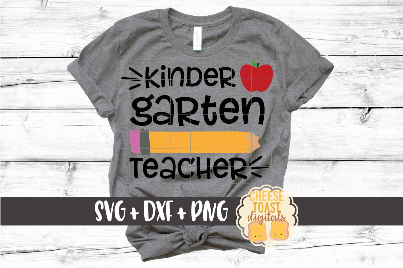 Kindergarten Teacher - Pencil and Apple