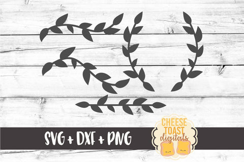 Laurel Element Set - SVG, PNG, DXF