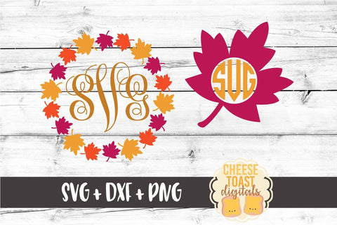 Leaf Monogram Frames - Set of 2
