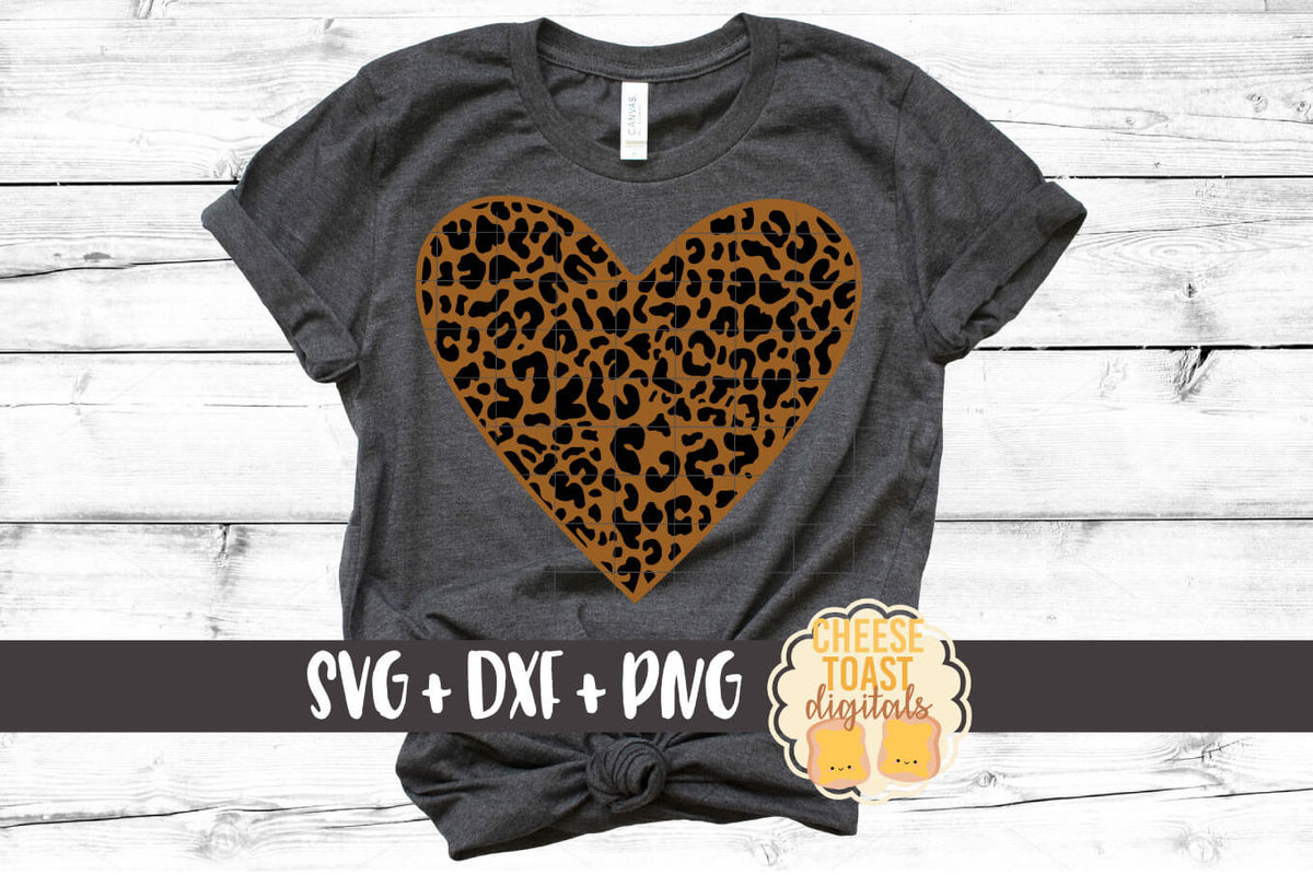 Leopard Print Heart Svg Free And Premium Svg Files Cheese Toast Digitals
