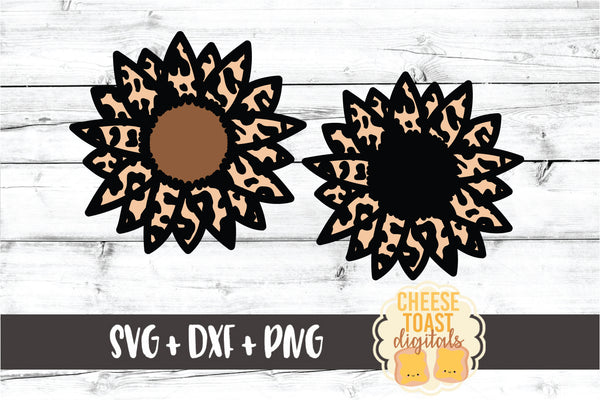 Leopard Print Sunflower Set of 2