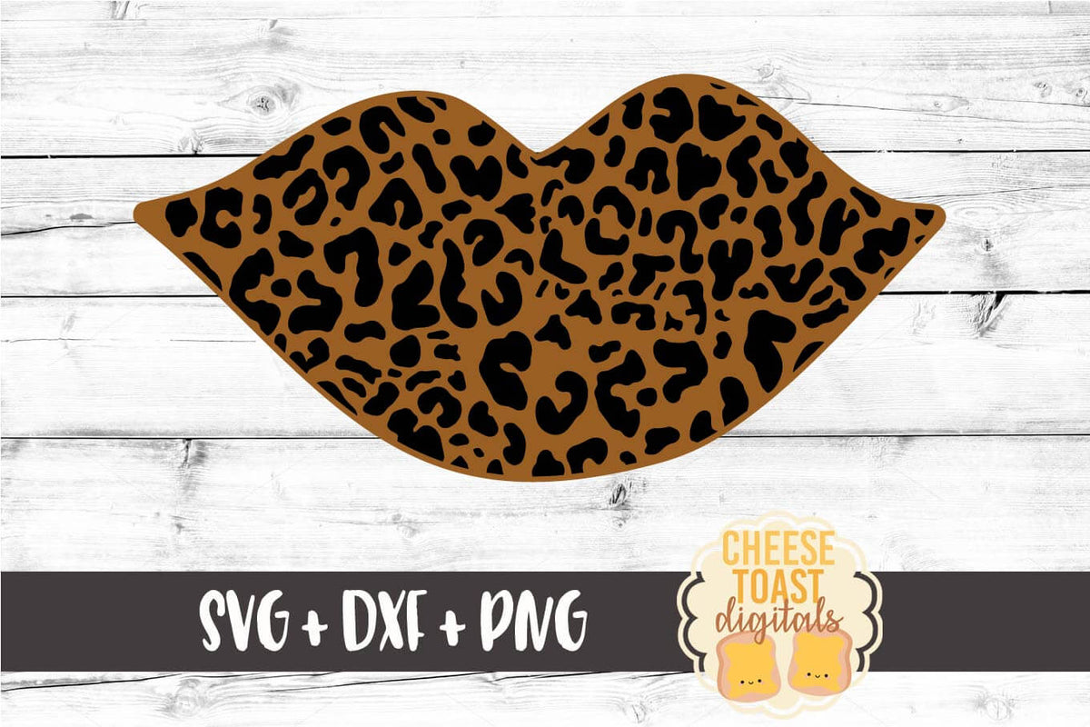 Leopard Print Lips Svg Free And Premium Svg Files Cheese Toast Digitals
