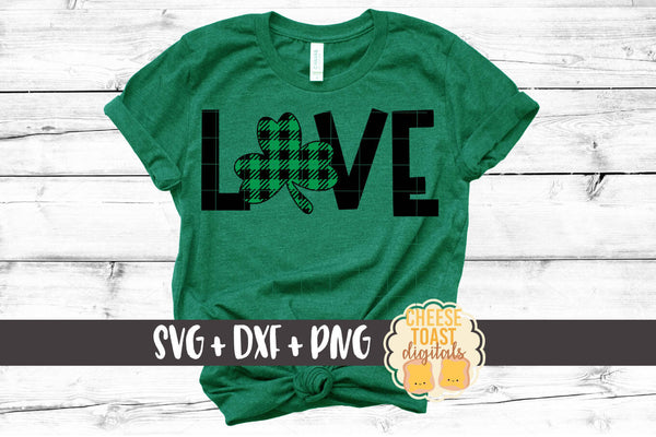 Love - St Patrick's Day - Buffalo Plaid
