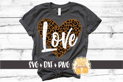 Love Heart - Leopard Print