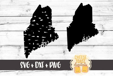 Maine - Grunge and Solid - SVG, PNG, DXF
