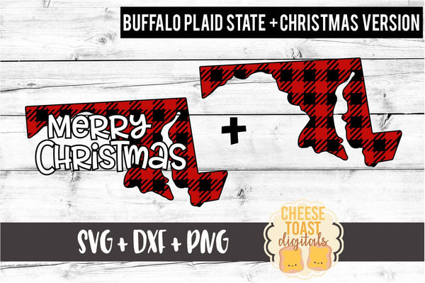 Maryland - Buffalo Plaid Merry Christmas