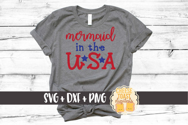 Mermaid In The USA - SVG, PNG, DXF