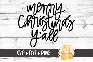 Merry Christmas Y'all - SVG, PNG, DXF