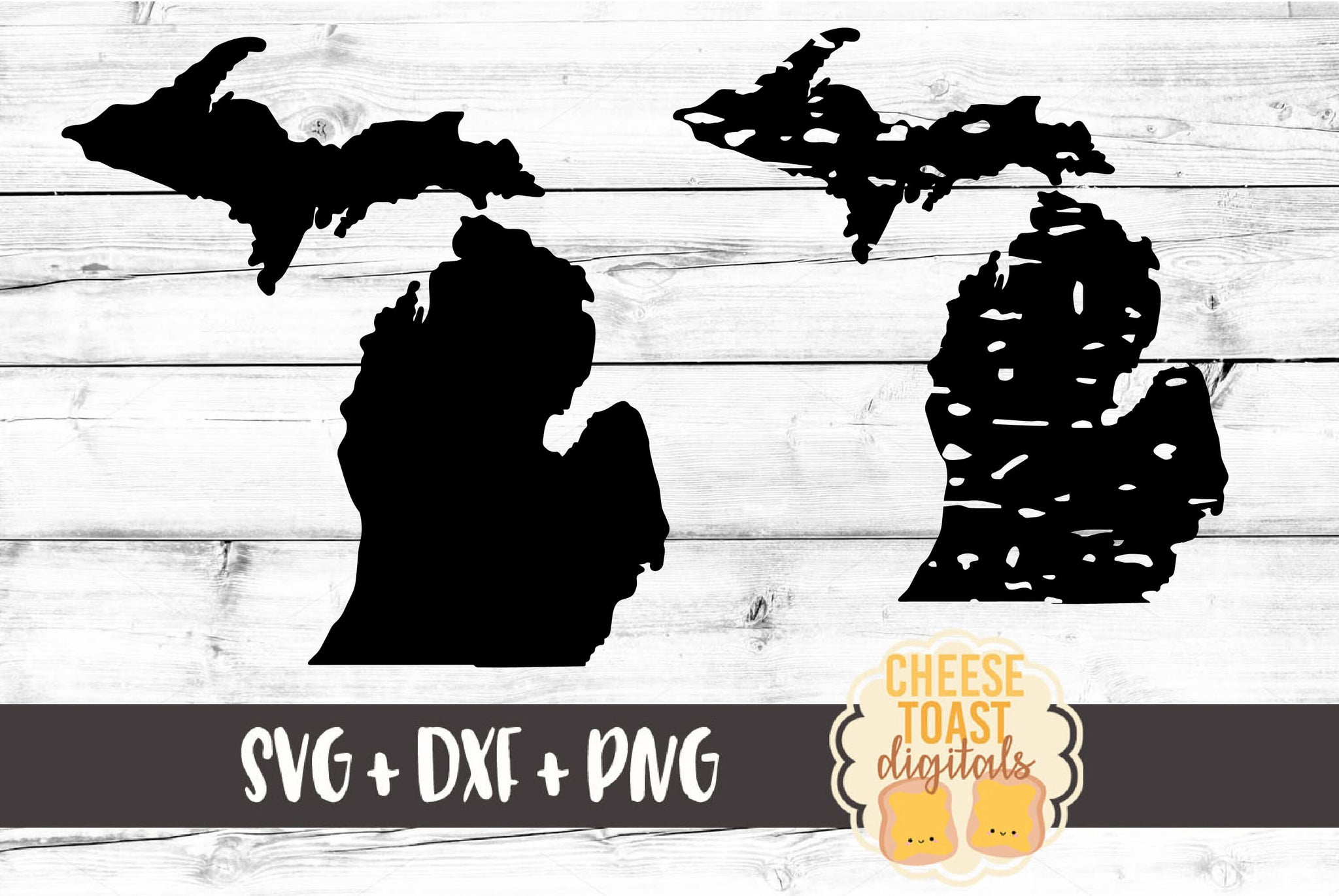 Michigan - Grunge and Solid - SVG, PNG, DXF