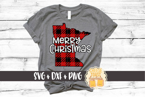 Minnesota - Buffalo Plaid Merry Christmas