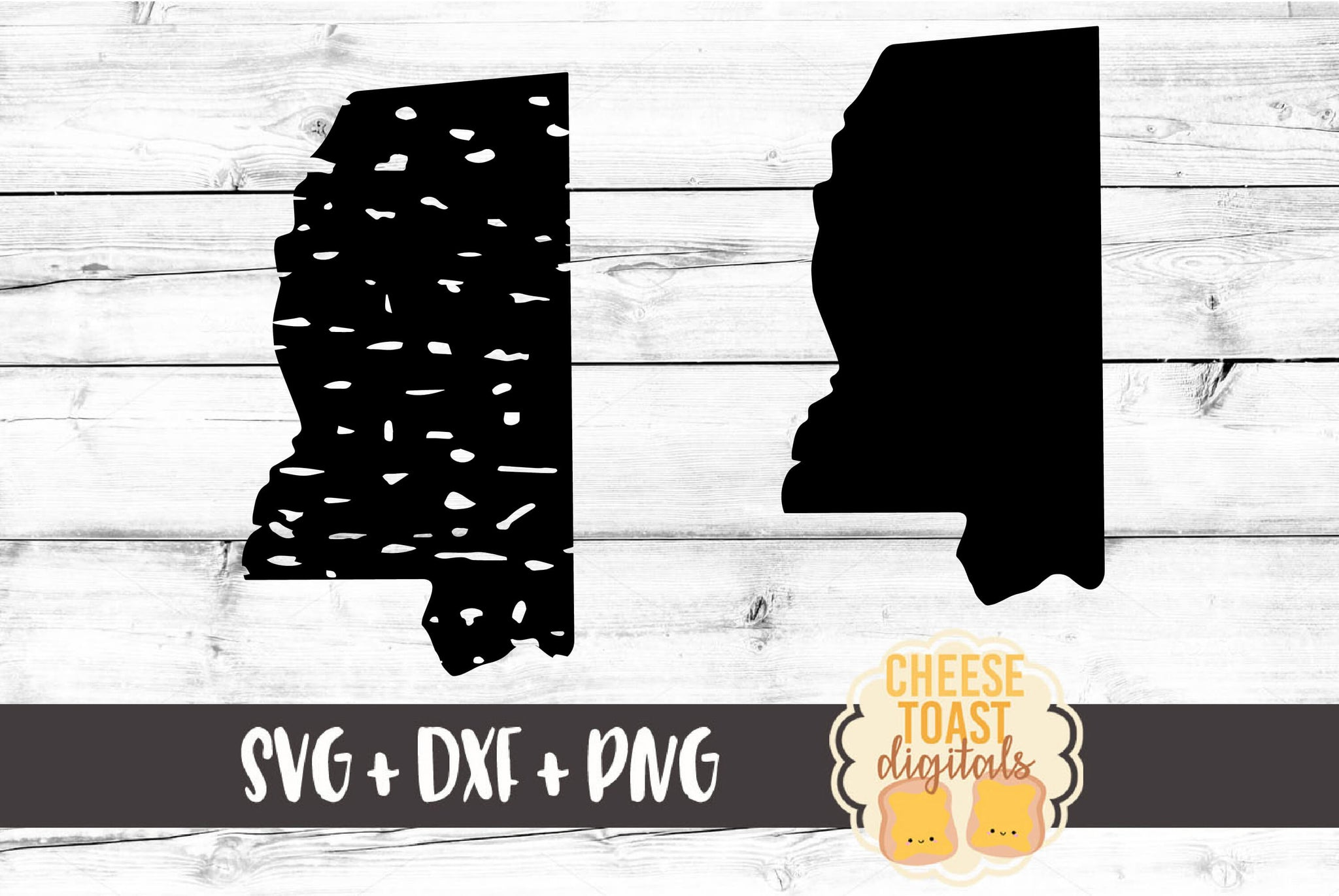 Mississippi - Grunge and Solid - SVG, PNG, DXF