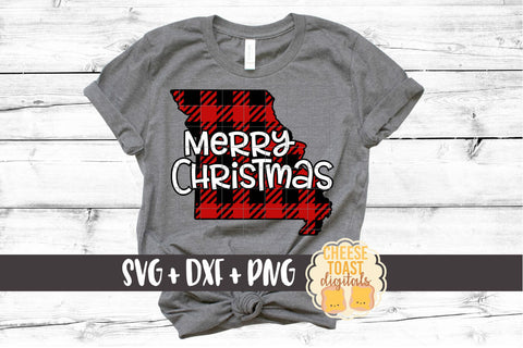 Missouri - Buffalo Plaid Merry Christmas