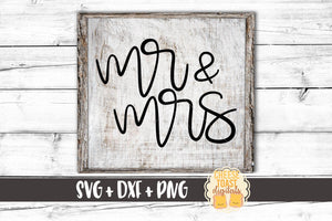 Mr and Mrs - SVG, PNG, DXF