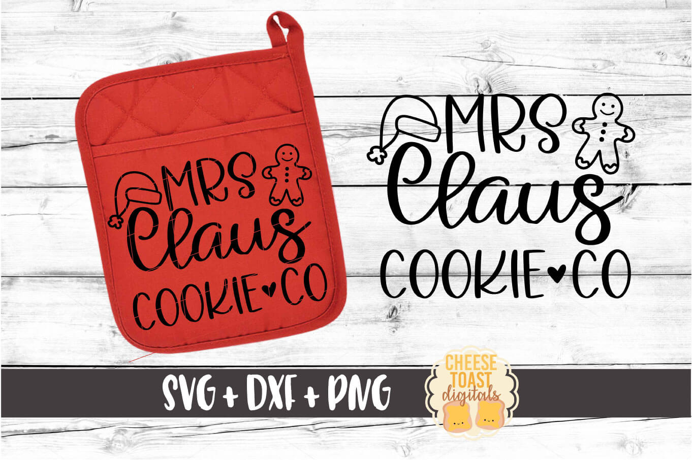 Mrs Claus Cookie Co - Pot Holder Design