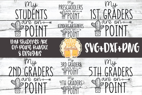 My Students Are On Point Bundle - 8 Designs