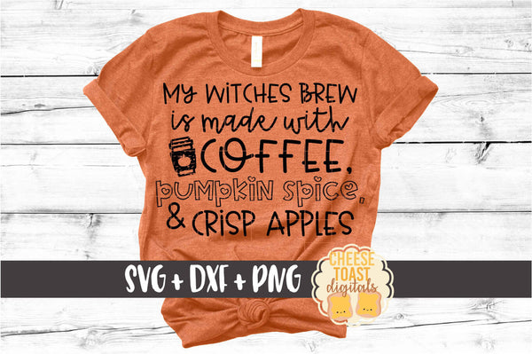 My Witches Brew Is Made With Coffee Pumpkin Spice and Crisp Apples