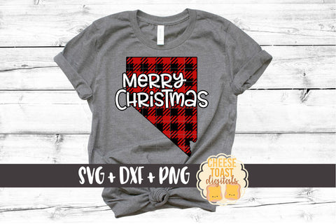 Nevada - Buffalo Plaid Merry Christmas