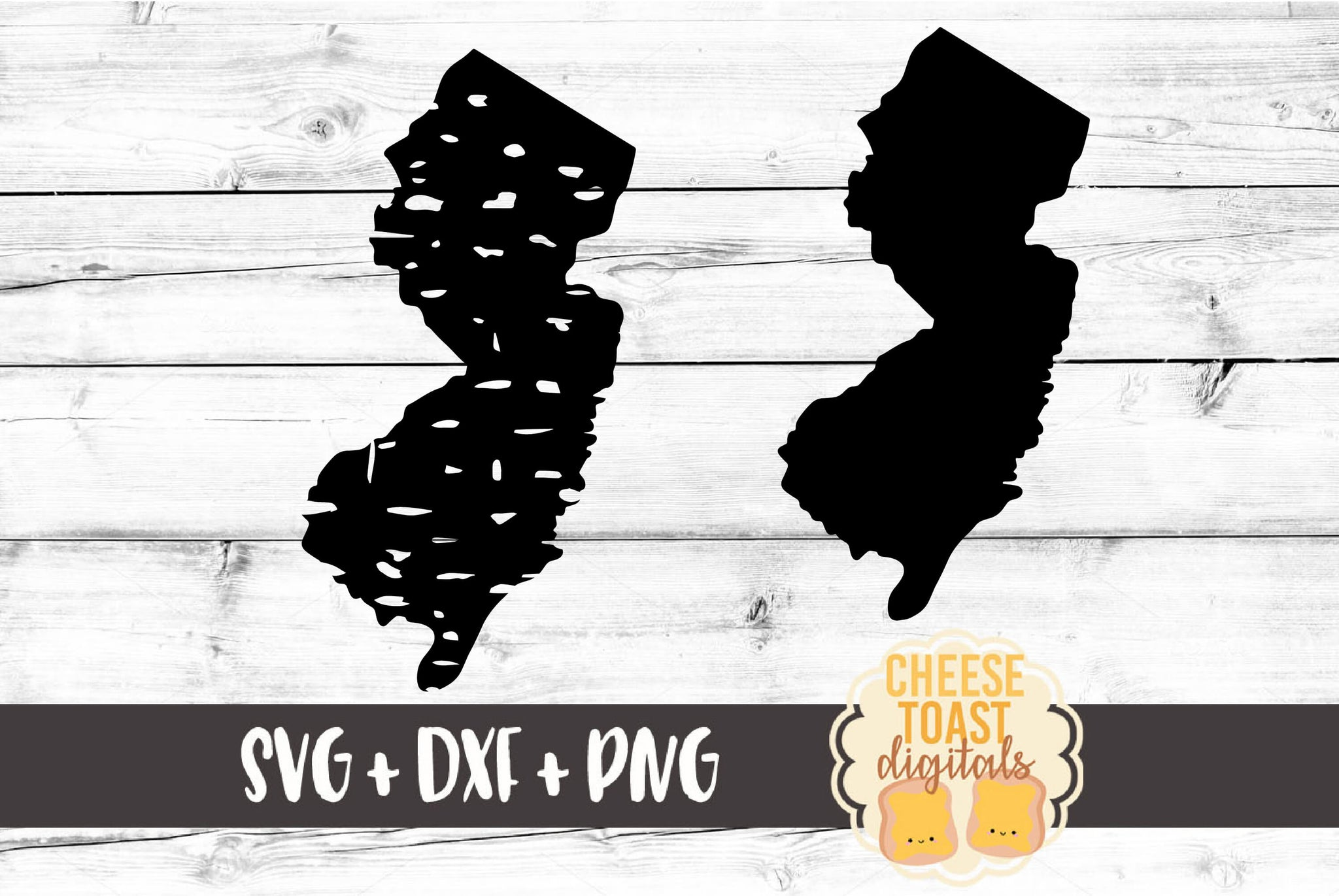 New Jersey - Grunge and Solid - SVG, PNG, DXF