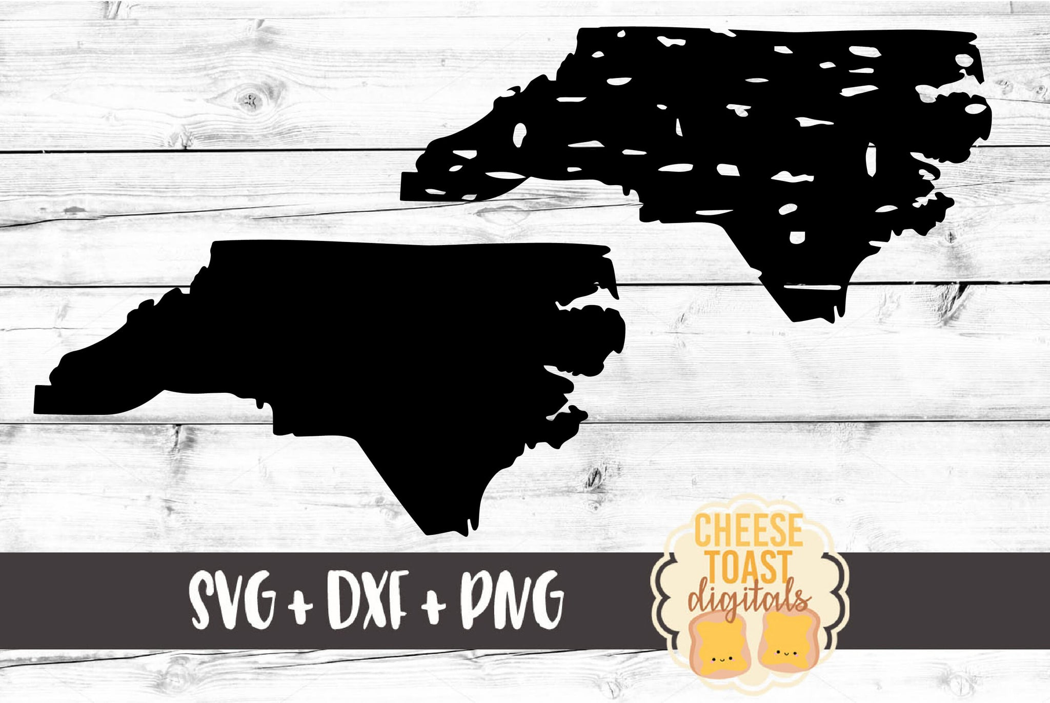 North Carolina - Grunge and Solid - SVG, PNG, DXF
