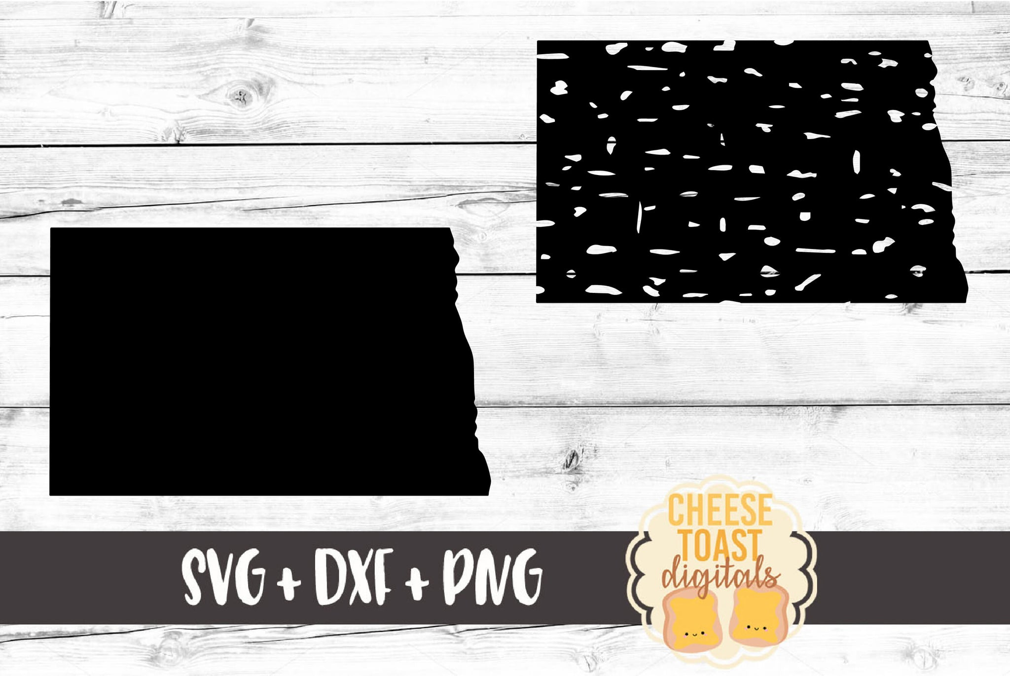 North Dakota - Grunge and Solid - SVG, PNG, DXF